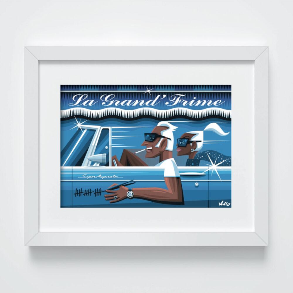 Carte postale La Grande Frime avec cadre