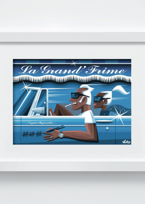 La Grande Frime postcard with frame