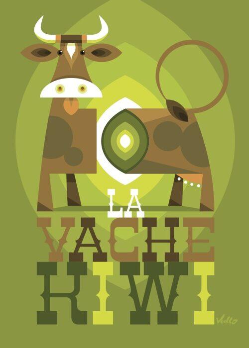 Carte postale La Vache Kiwi