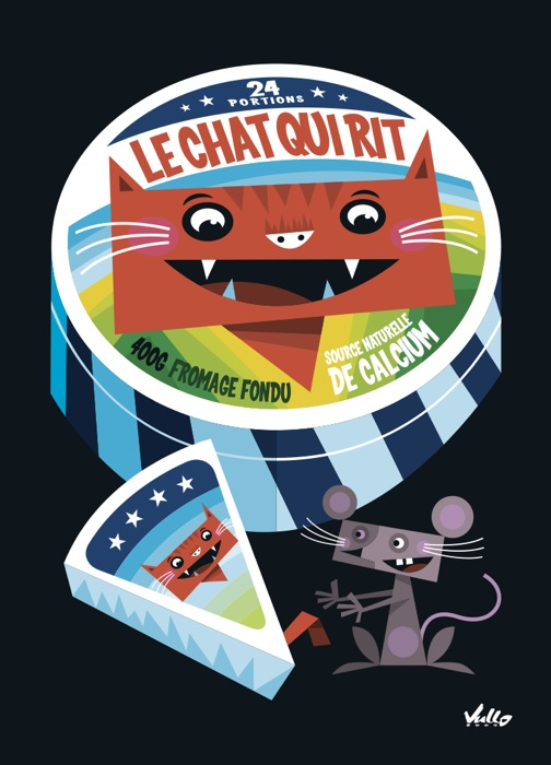 Le Chat Qui Rit postcard