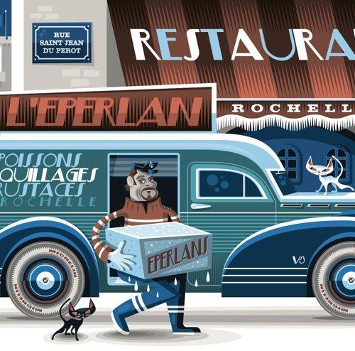 Carte postale Livraison À L'Éperlan