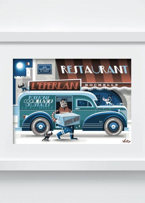 Carte postale Livraison À L'Éperlan avec cadre