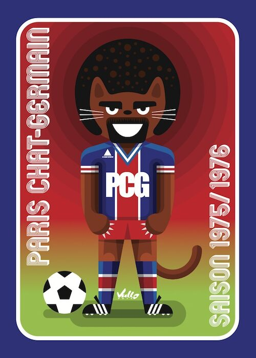 Paris Chat Germain postcard