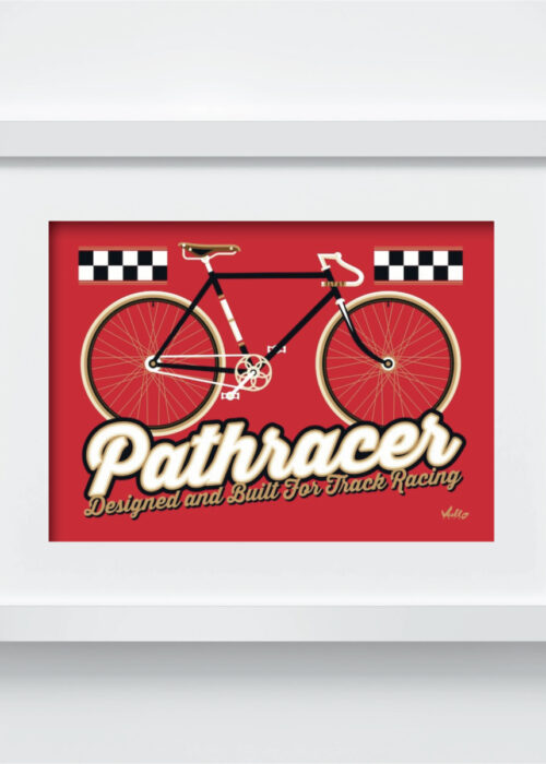 Pathracer postcard with frame