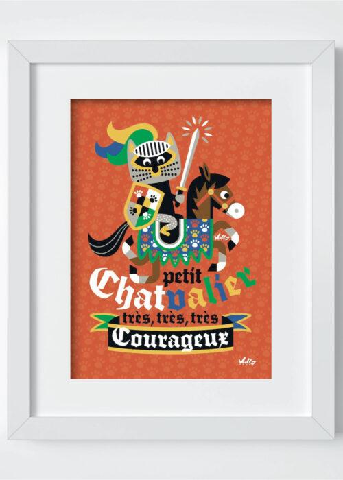 Carte postale Petit Chat...Valier avec cadre