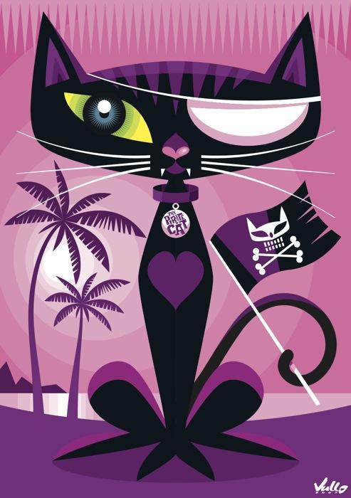 Carte postale Pirate Cat