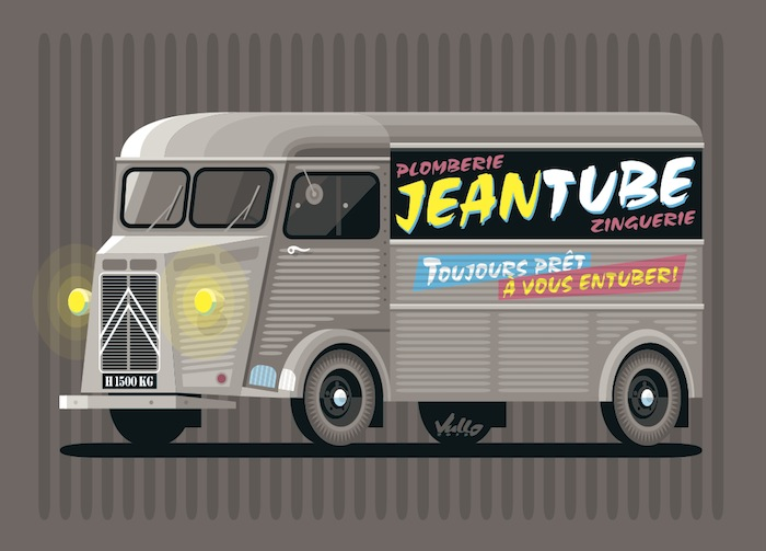 Carte postale Plomberie Jean Tube