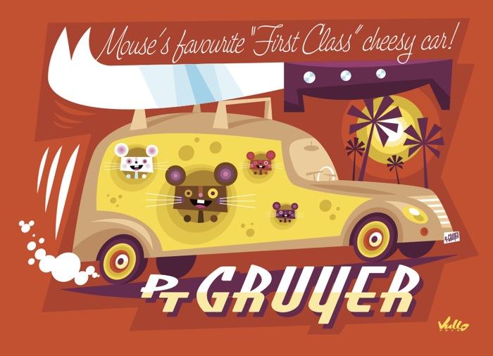 Carte postale PT Gruyer