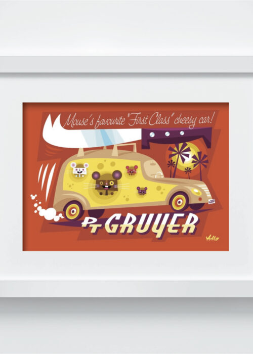 PT Gruyer postcard with frame
