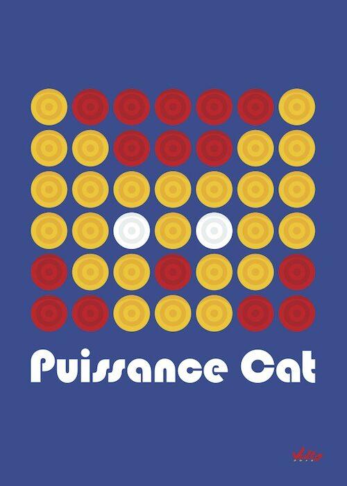 Carte postale Puissance Cat