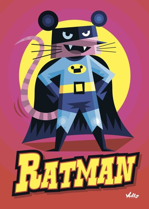 Carte postale Ratman