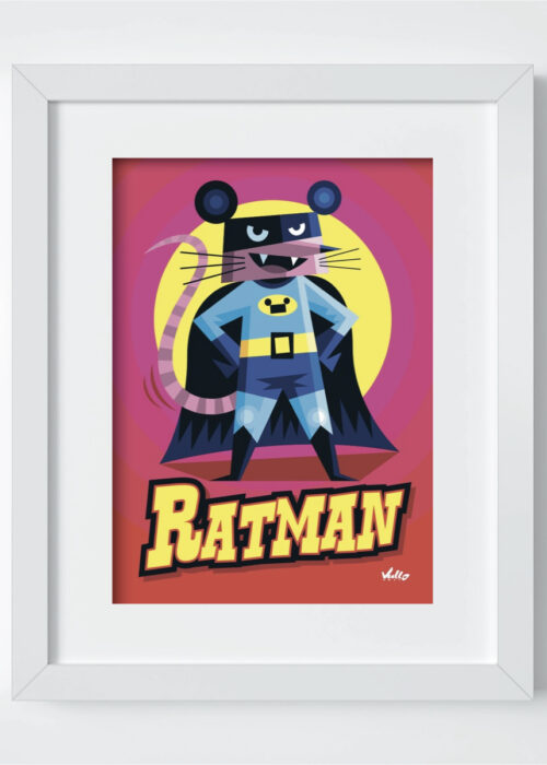Ratman postcard with frame
