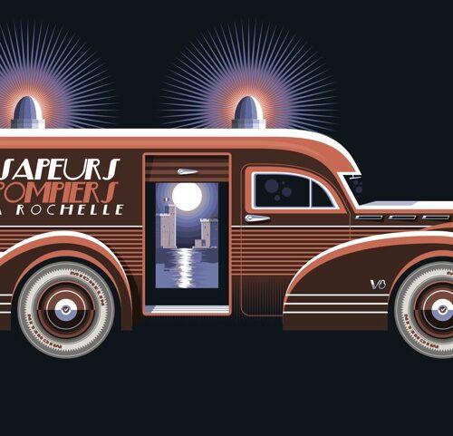 Carte postale Sapeurs Pompiers La Rochelle
