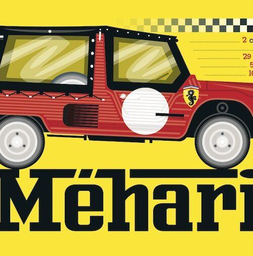 Carte postale Schuderia Mehari