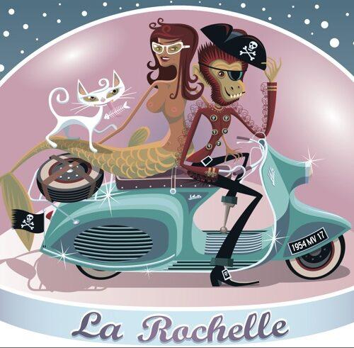 Souvenir La Rochelle postcard