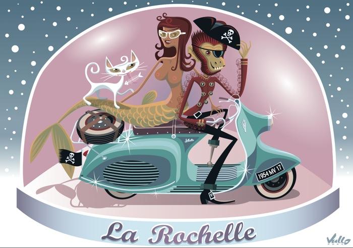 Carte postale Souvenir La Rochelle
