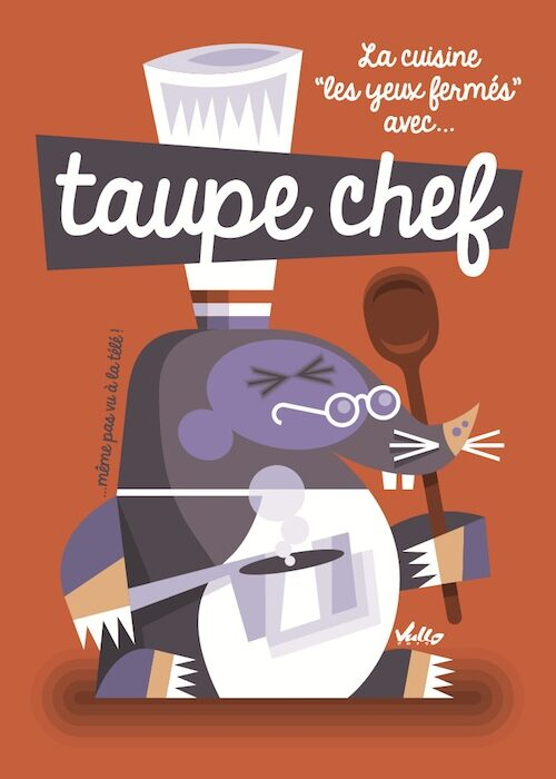 Carte postale Taupe Chef