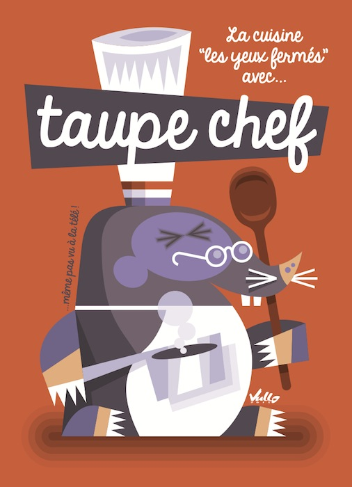 Taupe Chef postcard