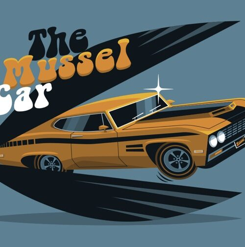 Carte postale The Mussel Car