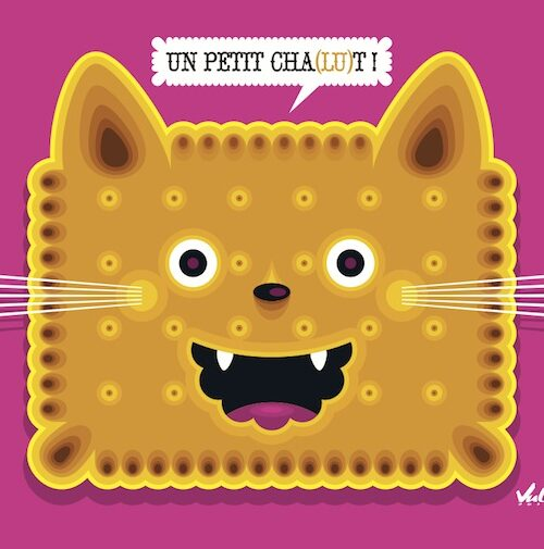 Carte postale Un Petit Chat Lu