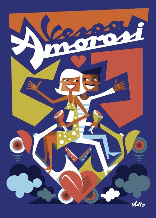 Carte postale Vespa Amorosi