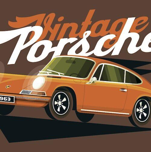Carte postale Vintage 911 Orange