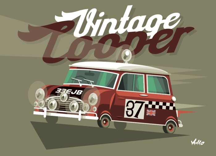 Carte postale Vintage Cooper
