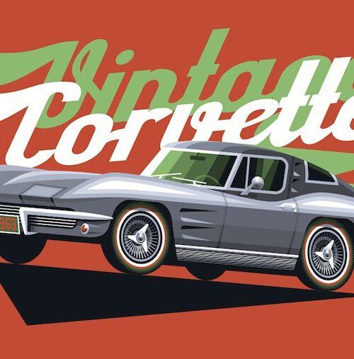 Carte postale Vintage Corvette