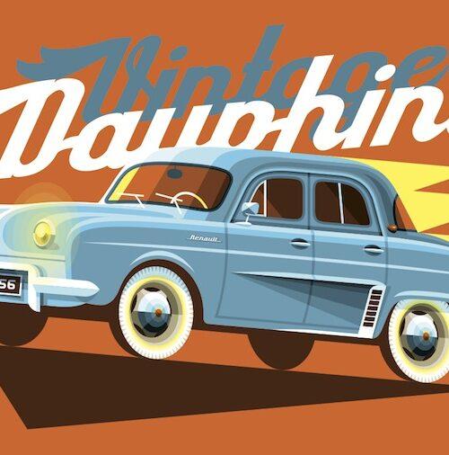 Carte postale Vintage Dauphine