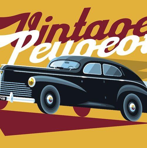 Carte postale Vintage Peugeot