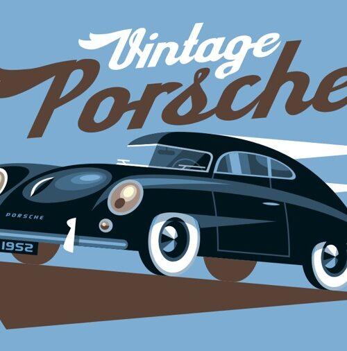 Carte postale Vintage Porsche