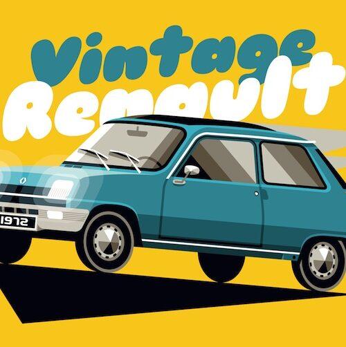 Carte postale Vintage R5 Bleue