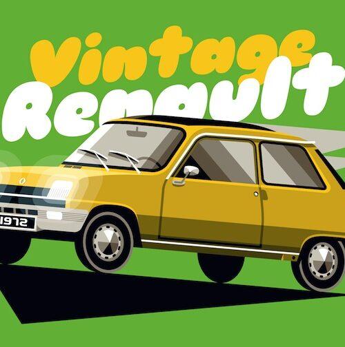 Carte postale Vintage R5 Jaune