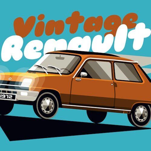 Carte postale Vintage R5 Orange