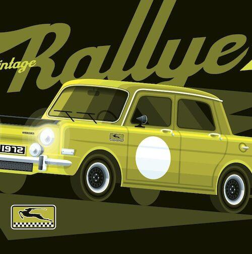 Carte postale Vintage Rallye 2