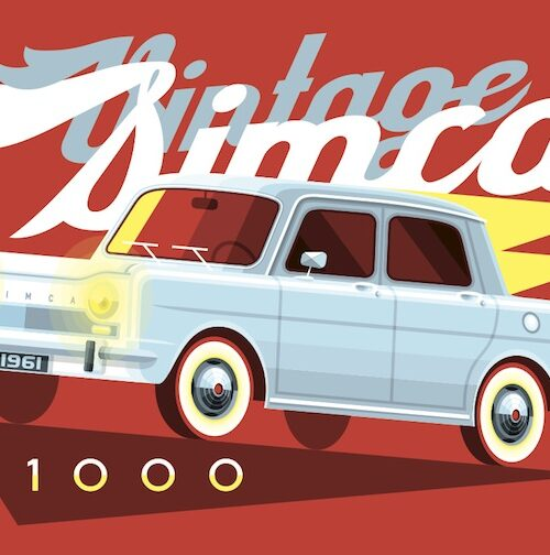 Carte postale Vintage Simca 1000