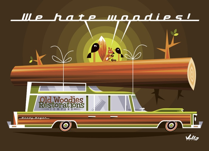 Carte postale We Hate Woodies