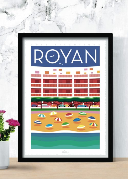 Royan poster with frame