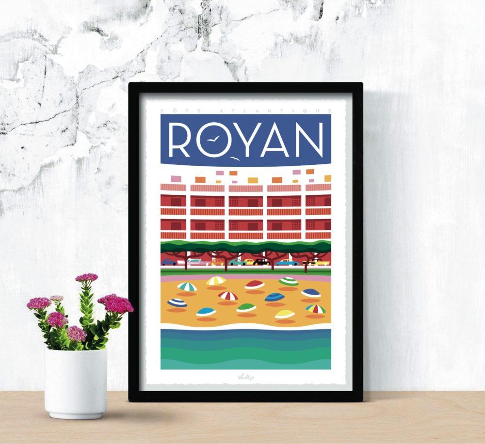 Affiche Royan avec cadre