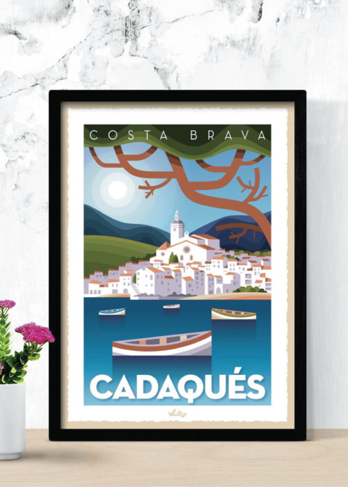 Cadaqués poster with frame